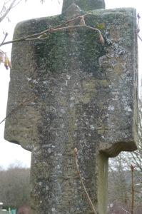 """Inschrift """"steinernes Marterla zum Anger"""" (Foto: Norbert Ledermann, Üchtelhausen)"""